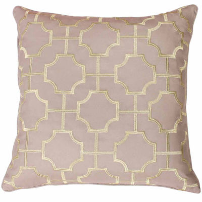 Thro by Marlo Lorenz Tonianne Embroidered Geo Throw Pillow