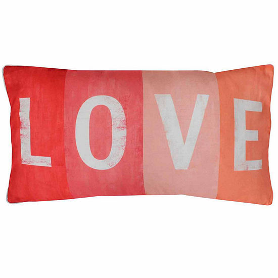 Thro By Marlo Lorenz Love Printed Sign Faux Linen Throw Pillow