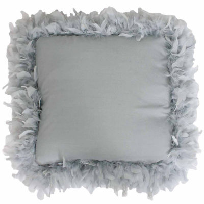 Thro by Marlo Lorenz Mary Feather Trim Throw Pillow