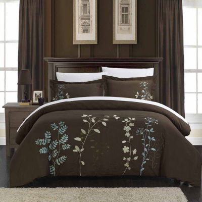 Chic Home Kaylee 3-pc. Embroidered Duvet Cover Set