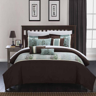 Chic Home Evan 8-pc. Midweight Comforter Set