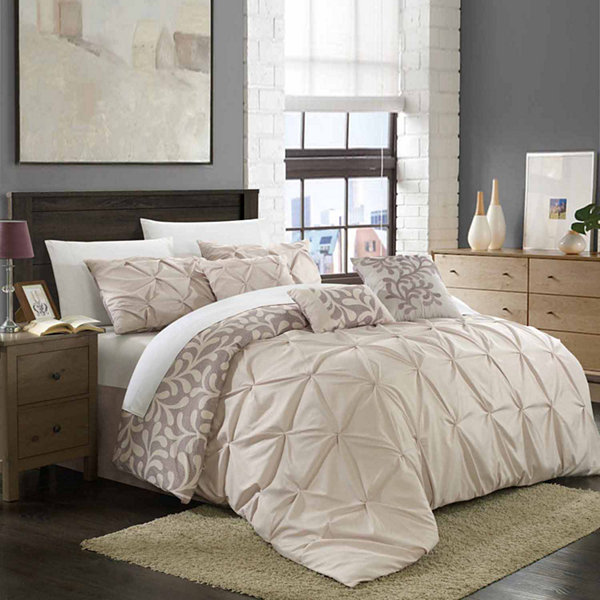 Chic Home Trenton Reversible 11-pc. Midweight Comforter Set