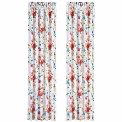 Queen Street Sunshine Rod-Pocket Curtain Panel