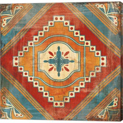 Metaverse Art Moroccan Tiles V V2 Gallery WrappedCanvas Wall Art