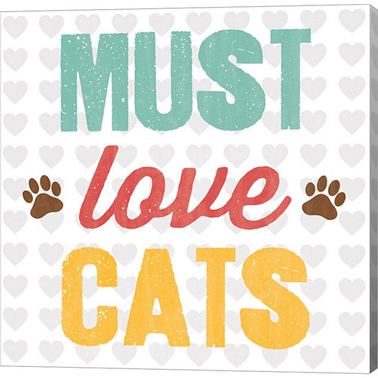 Metaverse Art Must Love Cats Gallery Wrapped Canvas Wall Art