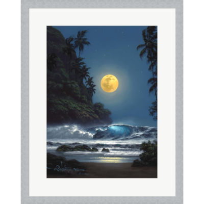 Metaverse Art Midnight Gold Framed Print Wall Art