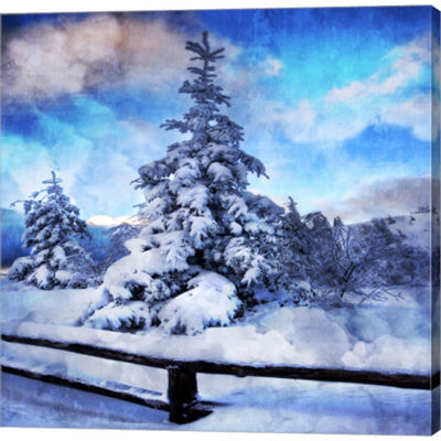 Metaverse Art My Beautiful Fir Tree Gallery Wrapped Canvas Wall Art