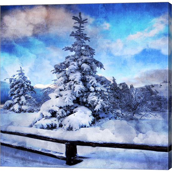 Metaverse Art My Beautiful Fir Tree Gallery Wrapped Canvas Wall Art