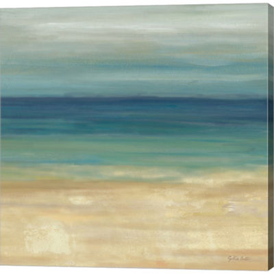 Metaverse Art Navy Blue Horizons II by Cynthia Coulter Gallery Wrapped Canvas Wall Art