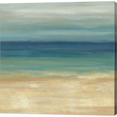 Metaverse Art Navy Blue Horizons II Gallery Wrapped Canvas Wall Art