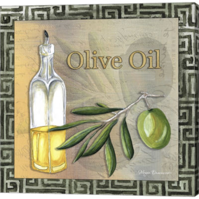 Metaverse Art Olive Oil 2 Gallery Wrapped Canvas Wall Art