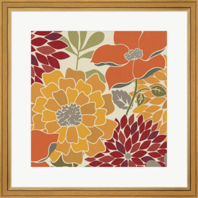 Metaverse Art Modern Bouquet Spice Square Framed Print Wall Art