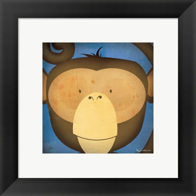 Metaverse Art Monkey Wow Framed Print Wall Art