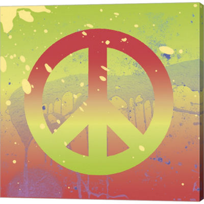 Metaverse Art Outtasight Peace Gallery Wrapped Canvas Wall Art