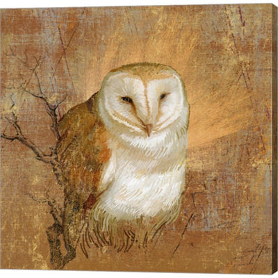 Metaverse Art Owl In The Wood Gallery Wrapped Canvas Wall Art