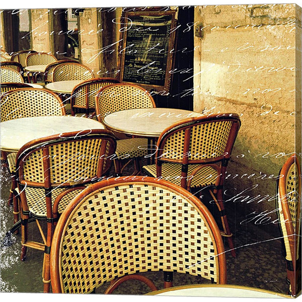 Metaverse Art Paris Bistro Letter Gallery WrappedCanvas Wall Art
