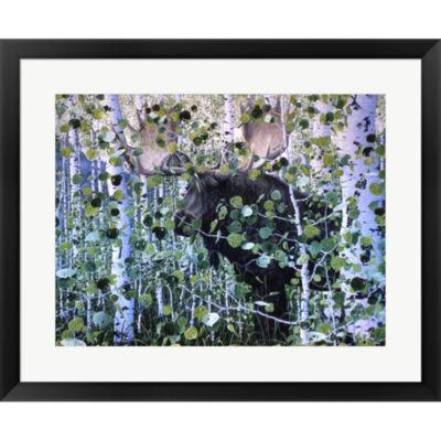 Metaverse Art Moose by Jeff Tift Framed Print WallArt