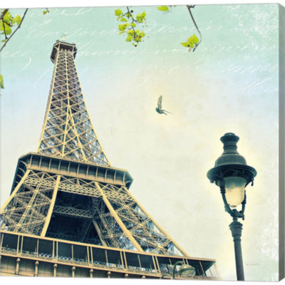 Metaverse Art Paris Eiffel Letter Gallery WrappedCanvas Wall Art