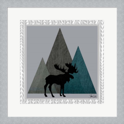 Metaverse Art Moose by Shanni Welsh Framed Print Wall Art