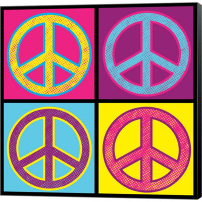 Metaverse Art Peace Colorful Gallery Wrapped Canvas Wall Art