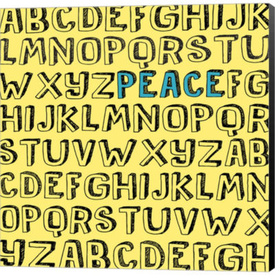 Metaverse Art Peace Alphabet Gallery Wrapped Canvas Wall Art