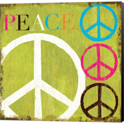 Metaverse Art Peace by Mo Mullan Gallery Wrapped Canvas Wall Art