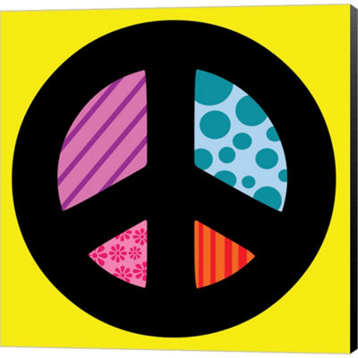 Metaverse Art Peace Collage 2 Gallery Wrapped Canvas Wall Art