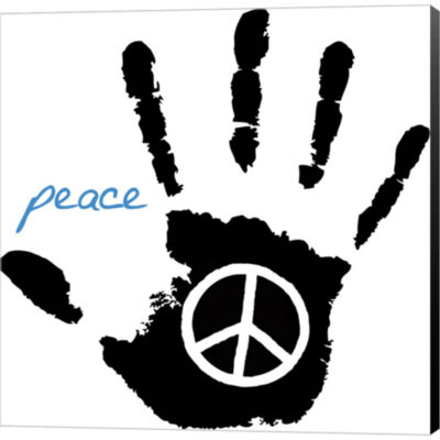 Metaverse Art Peace Hand Gallery Wrapped Canvas Wall Art