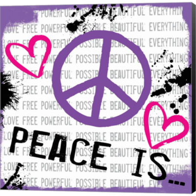 Metaverse Art Peace Is Gallery Wrapped Canvas WallArt