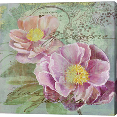 Metaverse Art Peony Garden I Gallery Wrapped Canvas Wall Art