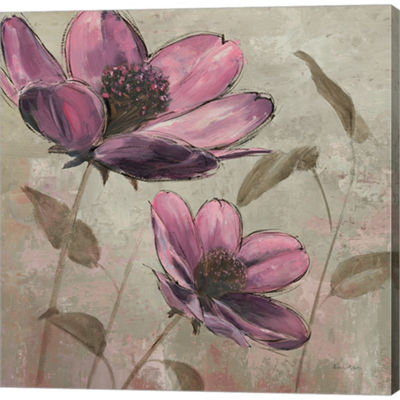 Metaverse Art Plum Floral II Gallery Wrapped Canvas Wall Art