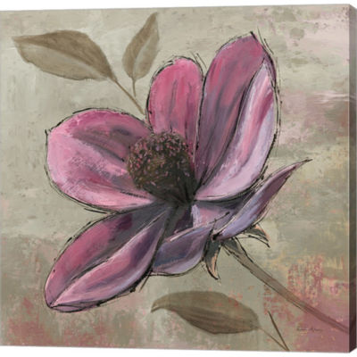 Metaverse Art Plum Floral III Gallery Wrapped Canvas Wall Art