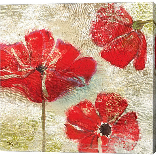 Metaverse Art Poppy Passion I Gallery Wrapped Canvas Wall Art