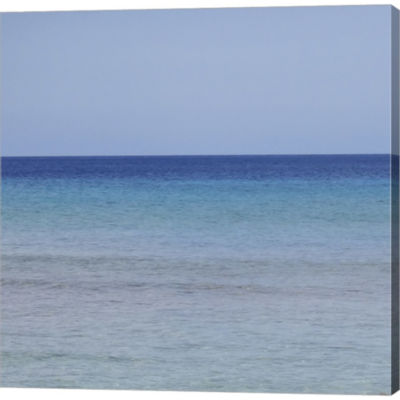 Metaverse Art Beach I Gallery Wrapped Canvas WallArt