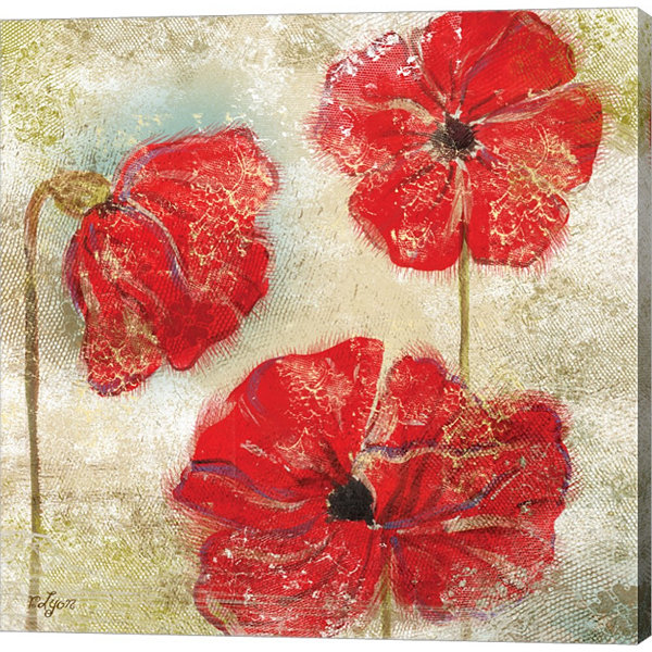 Metaverse Art Poppy Passion II Gallery Wrapped Canvas Wall Art