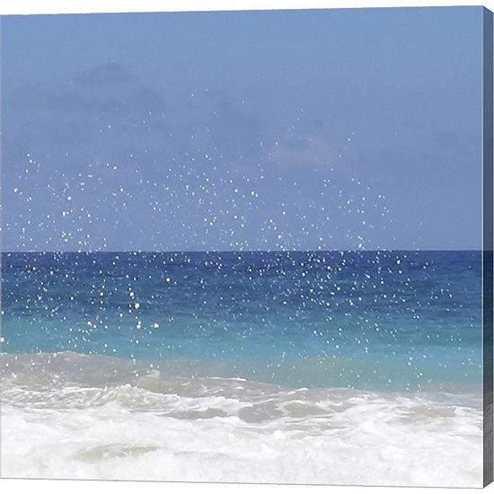 Metaverse Art Beach II Gallery Wrapped Canvas WallArt