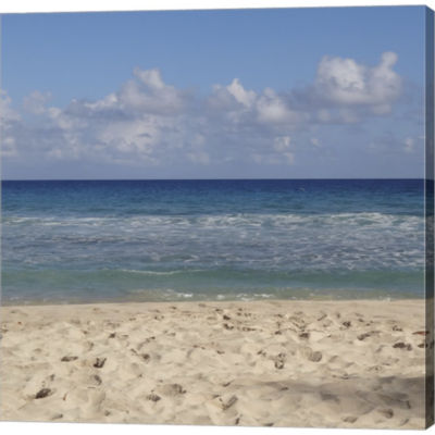 Beach IV Gallery Wrapped Canvas Wall Art On Deep Stretch Bars