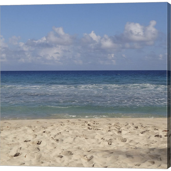 Metaverse Art Beach IV Gallery Wrapped Canvas WallArt