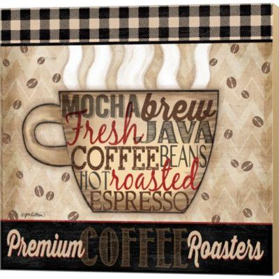 Metaverse Art Premium Coffee II Gallery Wrapped Canvas Wall Art