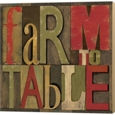Metaverse Art Printers Block Farm To Table I Gallery Wrapped Canvas Wall Art