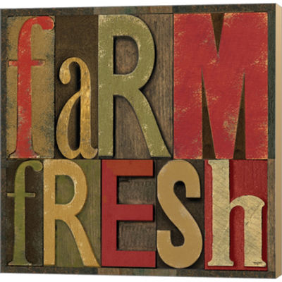 Metaverse Art Printers Block Farm To Table IV Gallery Wrapped Canvas Wall Art