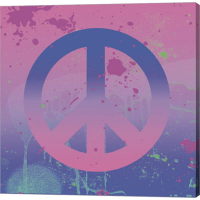 Metaverse Art Psychedelic Peace Gallery Wrapped Canvas Wall Art