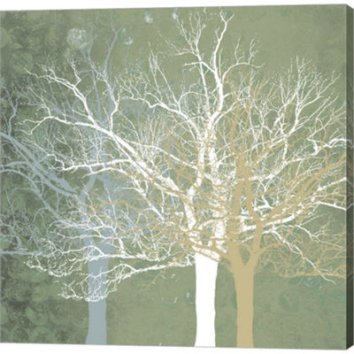 Metaverse Art Quiet Forest Gallery Wrapped CanvasWall Art