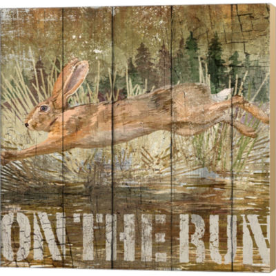 Metaverse Art Rabbit On The Run Gallery Wrapped Canvas Wall Art