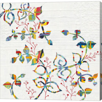 Metaverse Art Rainbow Vines With Berries Gallery Wrapped Canvas Wall Art