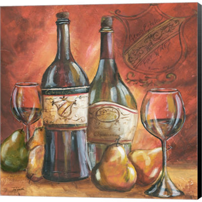 Metaverse Art Red And Gold Wine II Gallery WrappedCanvas Wall Art