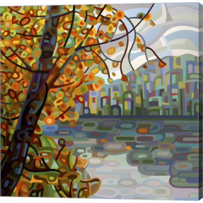 Metaverse Art Reflections Gallery Wrapped Canvas Wall Art