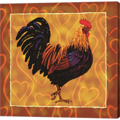 Metaverse Art Rooster 1 Gallery Wrapped Canvas Wall Art