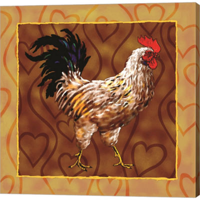 Metaverse Art Rooster 2 Gallery Wrapped Canvas Wall Art