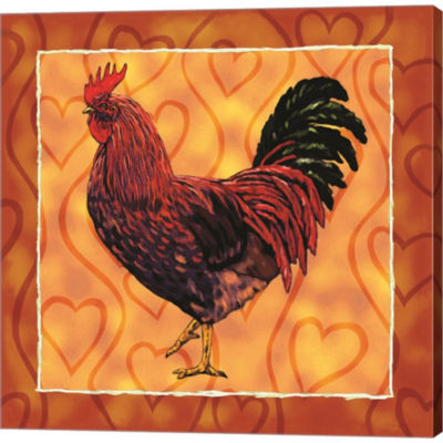 Metaverse Art Rooster 4 Gallery Wrapped Canvas Wall Art
